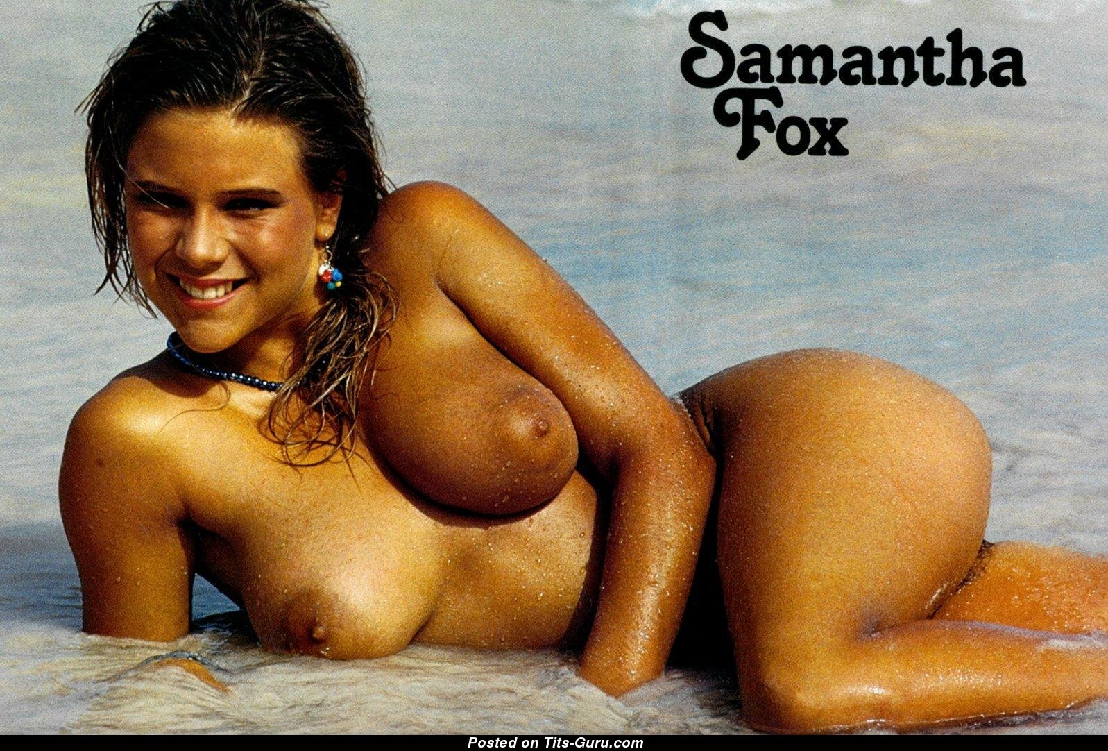 Samantha Fox - Blonde Actress With Exposed Natural Dd Size -3228