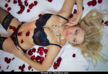 Eva Perkausova - Fascinating Czech Blonde Babe with Fascinating Nude Med Tittys (Sexual Photo)
