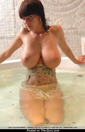 Gabrielle Aka Lucy C Aka Ala Pastel - Charming Wet Brunette Babe with Charming Exposed Real Great Tittys (Xxx Pix)