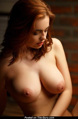 Lidia Savoderova - Beautiful Topless Russian Red Hair with Beautiful Bare Real Tittys (Porn Wallpaper)