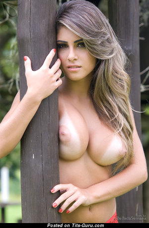 Image. Paula Rebello - naked beautiful girl with medium natural tittys photo