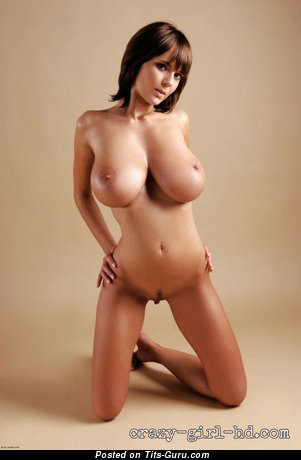 Image. Karin Spolnikova - sexy naked brunette with big natural breast photo
