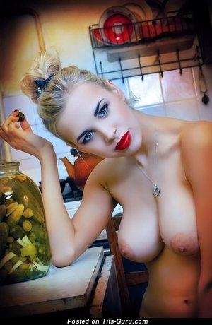 Fascinating Housewife & Babe with Fascinating Defenseless Real Dd Size Tittys & Big Nipples (Sex Image)