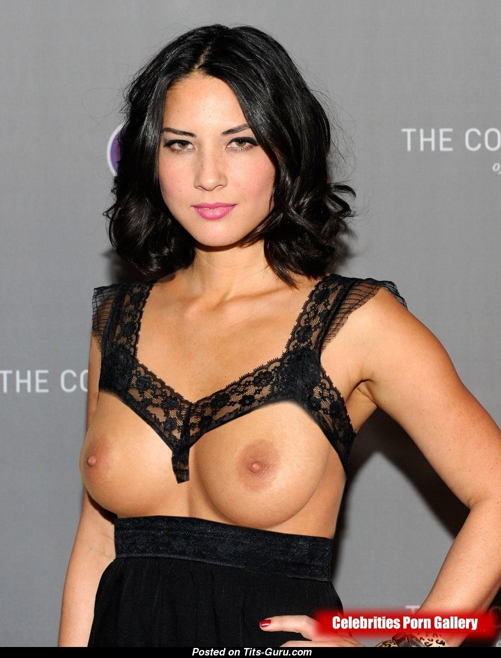Watch Olivia Munn Takes Her Tits Out In Support Of The Green Bay Packers video