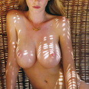 Sexy nude awesome lady with medium natural tots photo
