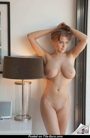 Alluring Babe & Girlfriend with Alluring Naked Natural Mid Size Boobs (Porn Pic)