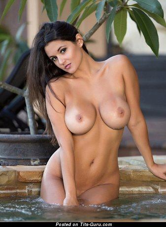 Sexy nude awesome woman with medium tits image