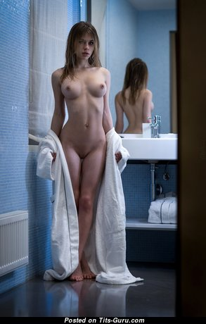 Alexandra Smelova - Stunning Glamour & Topless Russian Brunette with Stunning Defenseless Natural Regular Titty, Big Nipples, Sexy Legs is Undressing (Hd Xxx Foto)