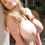 Amazing female with huge natural breast picture