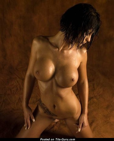 Image. Naked awesome woman with big fake boob pic