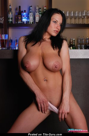 Image. Axana Shyker - wet naked amazing woman with big natural tittes and big nipples photo
