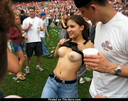 Gorgeous Brunette with Gorgeous Defenseless Real Average Jugs (Sexual Photo)