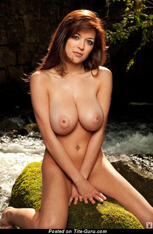 Tessa Fowler - Elegant Topless American Playboy Red Hair Pornstar with Elegant Exposed Real Humongous Melons & Large Nipples (Hd Sexual Photoshoot)
