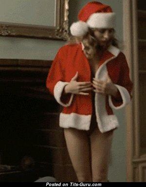 Cute Doll Shaking Pleasing Naked Medium Sized Jugs is Undressing (Xxx Gif)