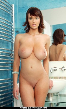 Yummy Babe with Yummy Bare Natural Med Tits (Porn Wallpaper)