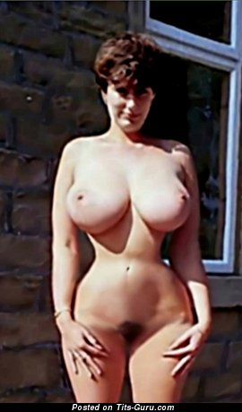 Moyra: topless amateur amazing female with big boobies vintage