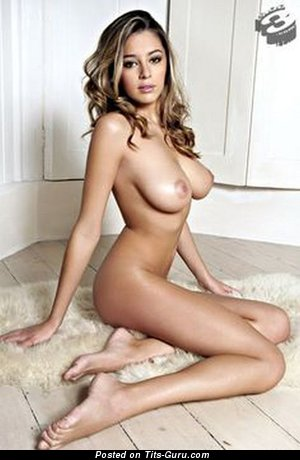 Image. Keeley Hazell - nude brunette with medium natural boobies image