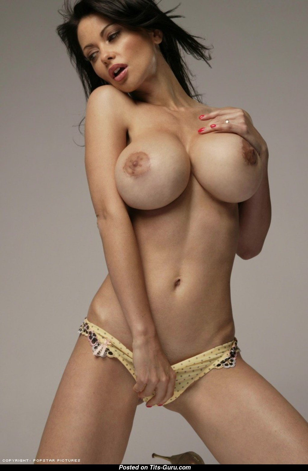 Veronica Zemanova - Brunette Babe With Bare Silicone Big -4432