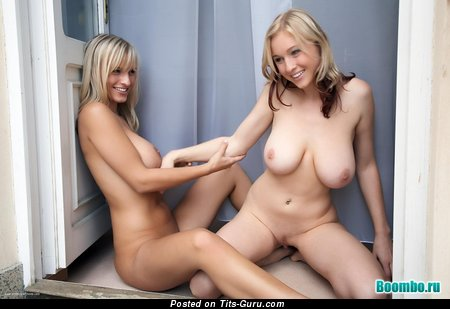 Good-Looking Blonde Lesbians with Good-Looking Defenseless Natural H Size Boobie (Sexual Pix)