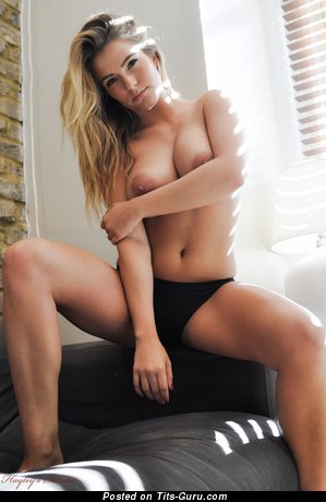 Image. Jess Kingham - blonde with big natural boobs photo