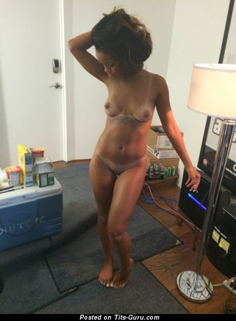 Rihanna - Delightful Topless Ebony Babe, Singer & Actress with Delightful Open Natural Little Busts (Sexual Photoshoot)