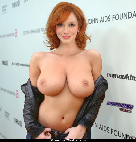 Delightful Red Hair Babe with Delightful Exposed Natural Tight Chest (Porn Photoshoot)