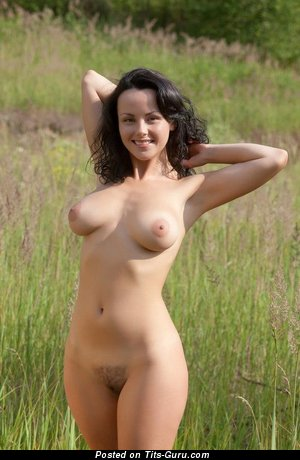 Hot Brunette Babe with Hot Bare Natural Firm Tots & Giant Nipples (Xxx Photoshoot)