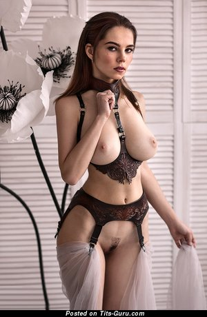 Ksyusha Egorova - Adorable Russian Brunette Babe with Adorable Naked Natural Mid Size Melons (Xxx Pic)
