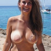 Wonderful girl with big natural breast picture