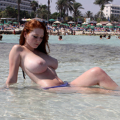 Naked red hair with medium natural tittes image