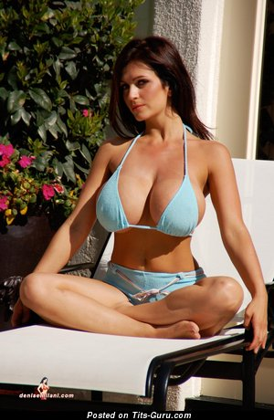 Image. Denise Milani - beautiful lady with huge tittes pic