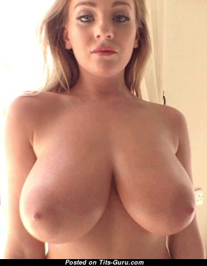 The Nicest Topless Blonde Babe (Sexual Gif)