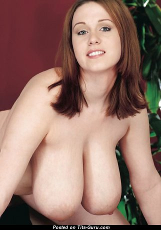 Fascinating Babe with Fascinating Bald Natural G Size Boob & Erect Nipples (Xxx Image)