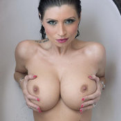 Nice female with medium fake boob image