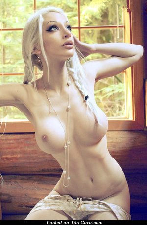 Image. Kato - naked amazing lady with medium fake boob image