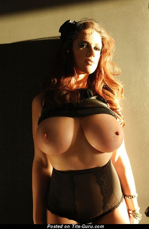 Image. Lana Kendrick - naked brunette with huge natural tittys picture