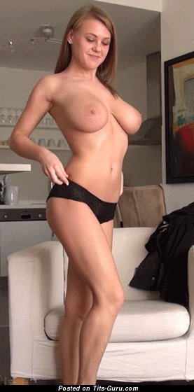 Image. Nude wonderful female with big natural boobs gif