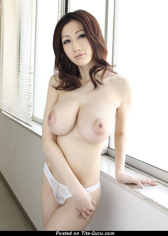 Julia Boin - Nice Japanese Brunette with Nice Exposed Natural Tight Chest & Puffy Nipples (Sexual Pic)