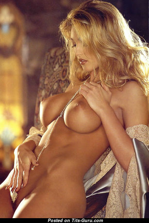 Crista Nicole: topless blonde with medium fake tittes & big nipples pic