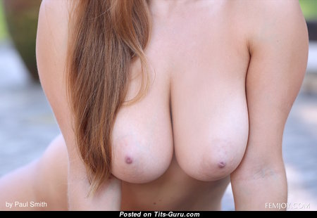 Josephine Bells - Amazing Glamour Blonde with Amazing Open Natural C Size Tots, Huge Nipples, Tan Lines (Hd Porn Foto)