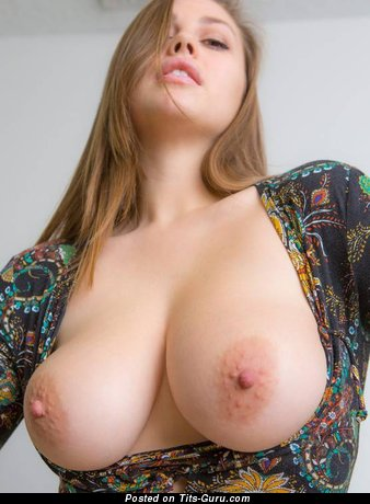 Perfect Topless Blonde with Perfect Nude Real Regular Tittes (Porn Picture)