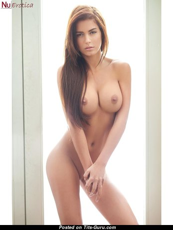 Fascinating Brunette with Fascinating Naked Mid Size Jugs (18+ Pic)