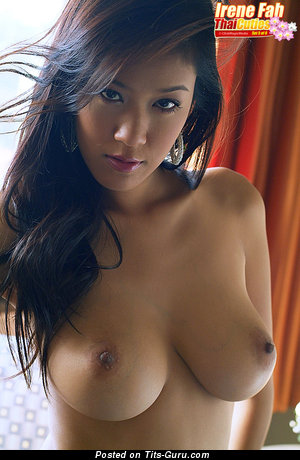 Irene Fah - Dazzling Topless Thai Brunette with Dazzling Open Real Normal Boobie (Xxx Image)