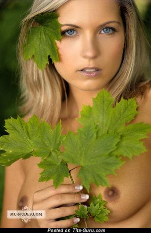 Jenni Gregg - изображение офигенной блондинки топлесс с маленькие сисечками, большими сосками