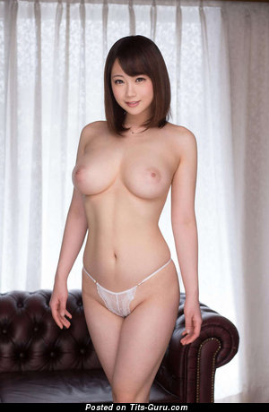 Image. Sexy topless asian brunette with medium natural boobs photo