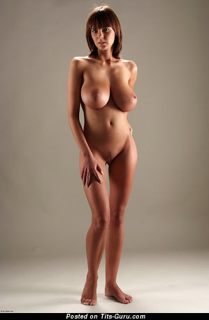 Gabrielle - naked amazing female with huge natural breast pic