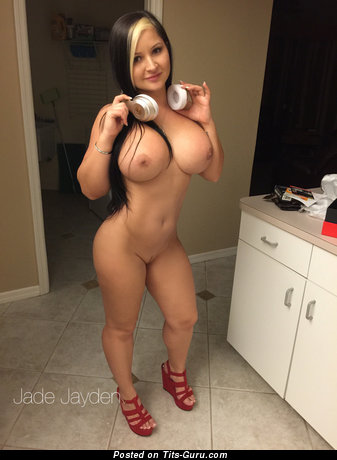Jade Jayden - Lovely American Brunette Babe with Amazing Nude Round Fake Ddd Size Tittys (Home Hd Xxx Image)