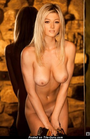 Image. Katie Vernola - sexy topless blonde with big boobs and big nipples photo