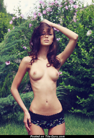 Image. Anna Aj Drosia - brunette with medium natural boobs photo