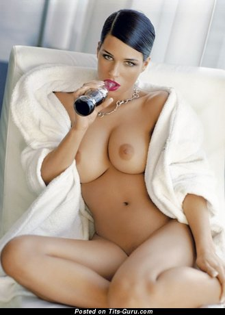Janine Habeck - Marvelous German Playboy Brunette with Marvelous Open Real Regular Breasts (Sexual Foto)